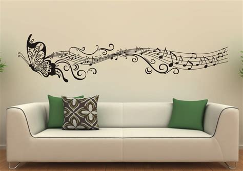 Music Butterfly Wall Decals Wall Stickers Vinyl Wall Decor Decorative Wall Sticker