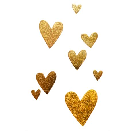 tattyoo gold hearts temporary tattoo pack the mini edit