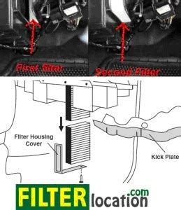 chevrolet suburban cabin air filter location