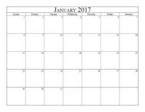 Calendar January 2017 January 2017 Calendar Australia