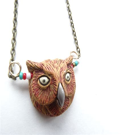 Chicago Handmade Jewelry - chicago handmade jewelry carousel owl necklace
