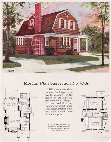 dutch colonial revival house plans 1923 morgan sash door 47a palisades design ideas