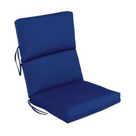 Blue Patio Chair Cushions Martha Stewart Living Charlottetown Washed Blue Replacement Outdoor Chair Cushion 89 65601 The