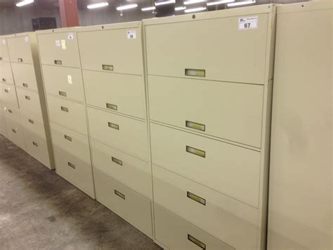 Steelcase Lateral File Cabinet Steelcase Beige 5 Drawer Lateral File Cabinet