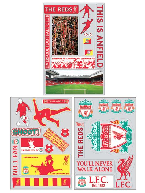 liverpool fc wall stickers liverpool fc wall stickers 64 pieces