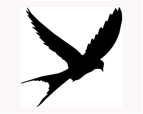 bird silhouette sticker car window vinyl laptop decal cute