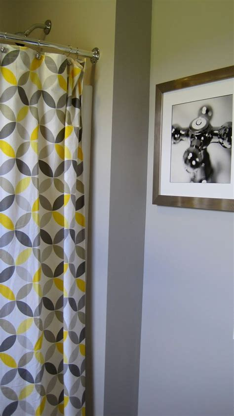 Yellow Gray Shower Curtain by Yellow And Gray Shower Curtain Home Decorating Ideas