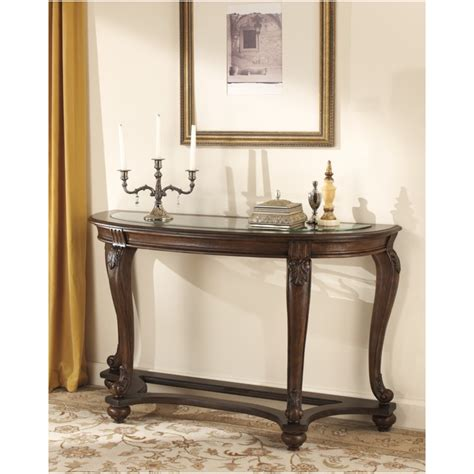 Ashley Furniture Norcastle Collection Rich Dark Brown Norcastle Sofa Table