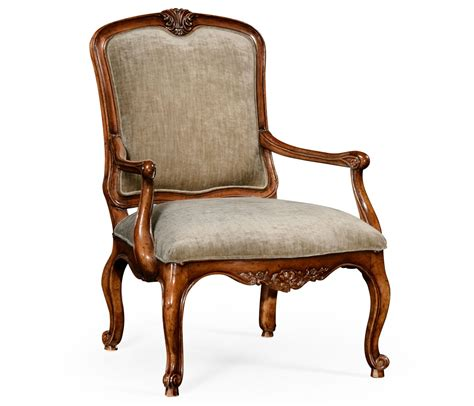 french style armchair uk french style walnut velvet armchair swanky interiors