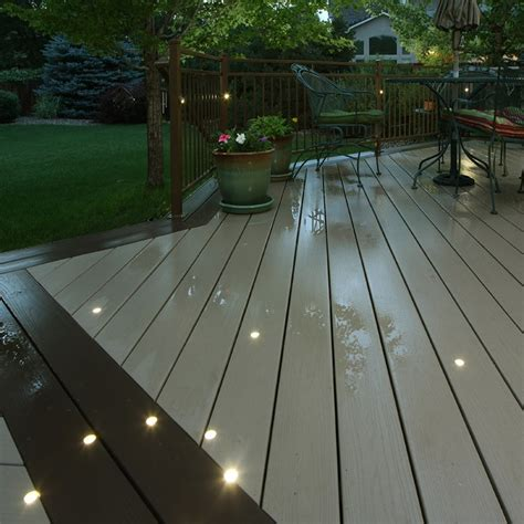 outdoor led deck lighting outdoor recessed dek dot led light kit dekor 174 lighting
