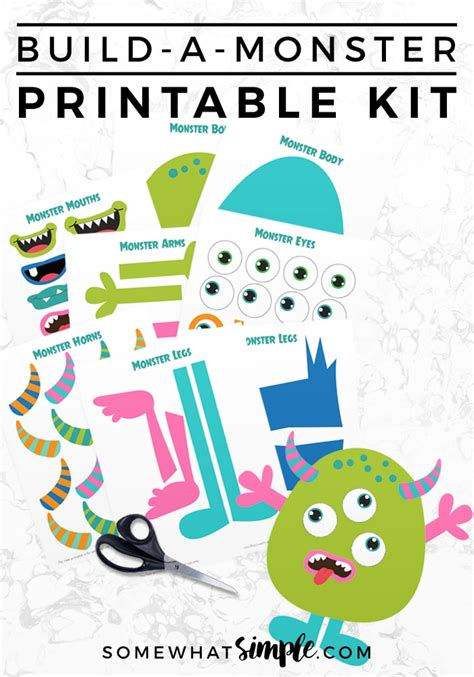 build a house online free build a monster free printable kit by somewhat simple com