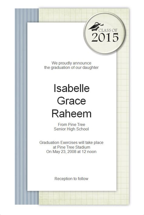 free word templates for graduation invitations 50 microsoft invitation templates free sles