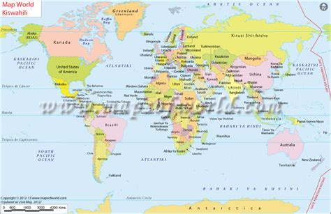 ramani ya dunia world map  swahili