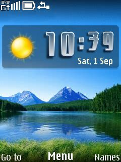 nature clock themes mobile9 download nice nature view clock nokia theme mobile toones