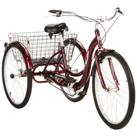 "26"" schwinn meridian adult tricycle, cherry walmart.com"