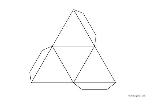 How To Make A Tetrahedron Out Of Paper - tetrahedron template printable images