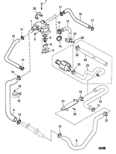 mercruiser  efi gm      standard cooling system parts
