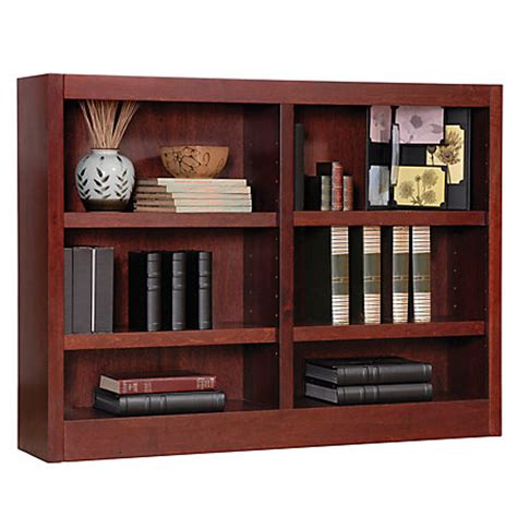 48 x 36 bookcase concepts in wood double wide bookcase 6 shelves 36 h x 48