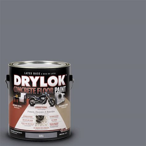 drylok 1 gal gull concrete floor paint 209154 the - 1 Gal Gull Drylok Concrete Floor Paint