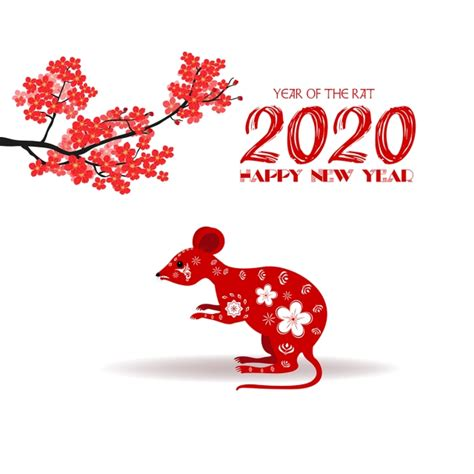 merry christmas  happy  year  year   rat  chinese happy png  vector
