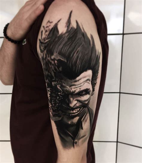 joker tattoo best shoulder joker tattoo best tattoo ideas gallery