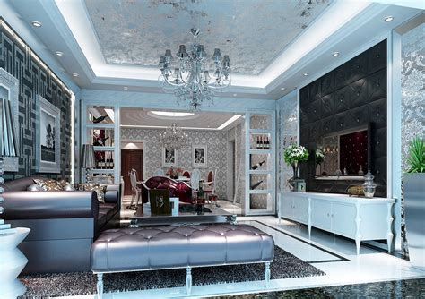 luxury design living hall and ceiling luxury design