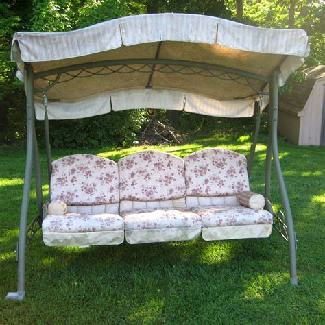 walmart swing cushion replacement home trends swing walmart replacement canopy garden winds