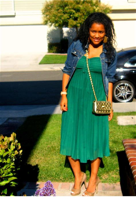 green dress gold shoes images