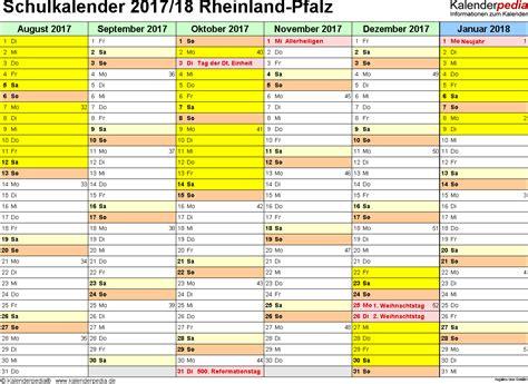 Kalender 2018 Pdf Rheinland Pfalz Schulkalender 2017 2018 Rheinland Pfalz F 252 R Pdf