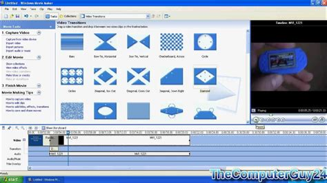 tutorial windows movie maker version 6 0 windows movie maker tutorial for xp youtube