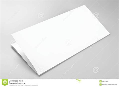 Folded Sheet Of Paper - blank folded sheet of paper or letterhead stock photo