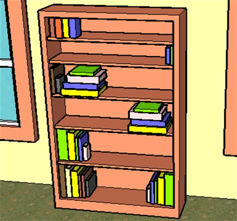 how to draw bookcase