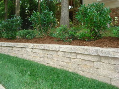 Retaining Wall Planter Along Driveway Grass Roots Landscaping