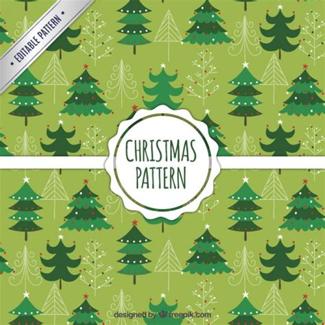 christmas pattern green green christmas trees pattern vector free download