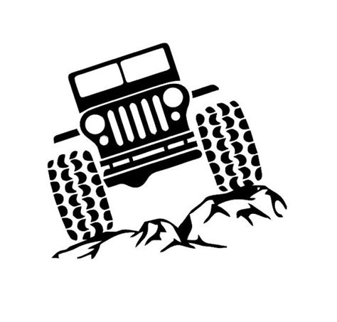 jeep silhouette jeep on rocks decal jeep and rocks decal by