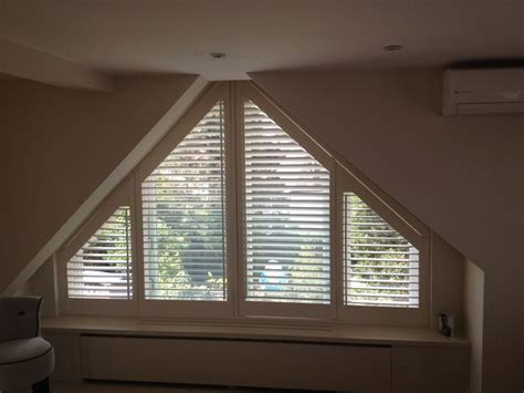 triangle window coverings triangular shaped shutters traditional windows by le