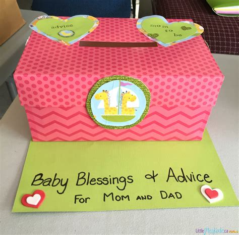 Baby Shower In A Box Ideas by Baby Shower Idea Advice And Well Wishes Box