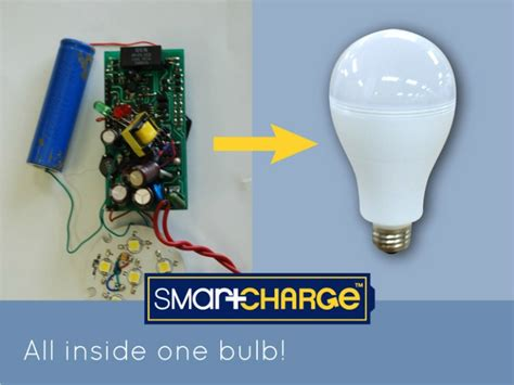 smart charge light bulb smartcharge led lightbulb works even when the power