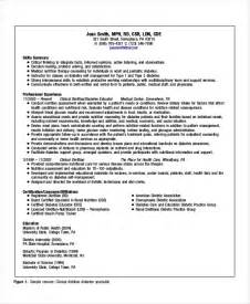Clinical Dietitian Resume by Dietitian Resume Template 6 Free Word Pdf Documents