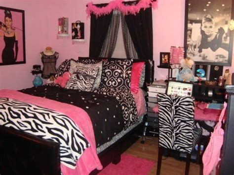 habitaciones juveniles rosa negro y cebra imagui decorar dormitorios juveniles fucsia y negro decoraci 243 n