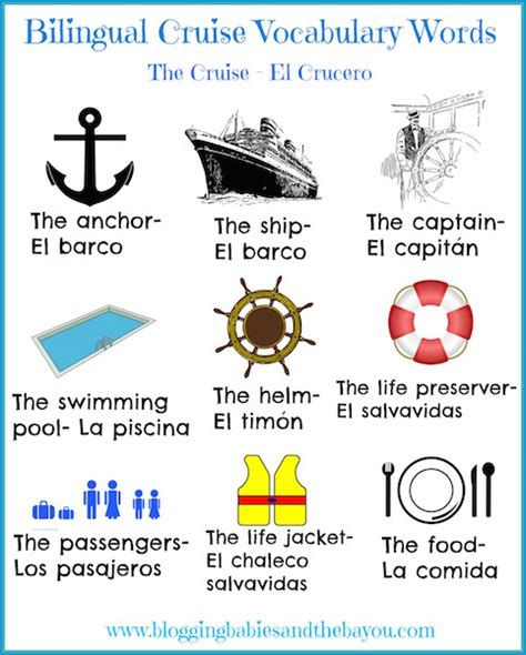 ship vocabulary get your family ready for their upcoming family cruise w