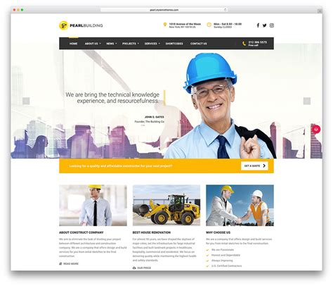 Holding Company Website Template 46 best construction company themes 2018 colorlib