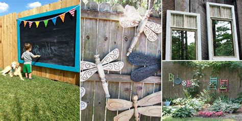 Garden Fence Decorating Ideas 15 Fantastic Ideas For Decorating Your Garden Fence