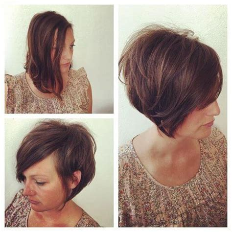 haircut for thick hair to look thin 35 short layered hairstyles for women with thin hair my