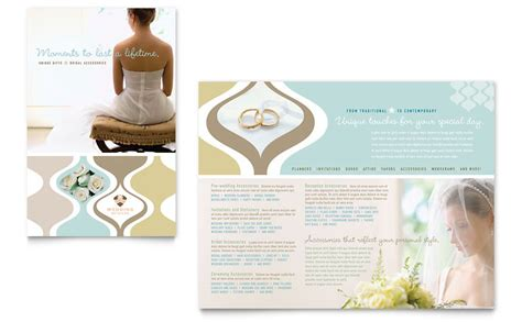 wedding brochures templates free wedding store supplies brochure template word publisher