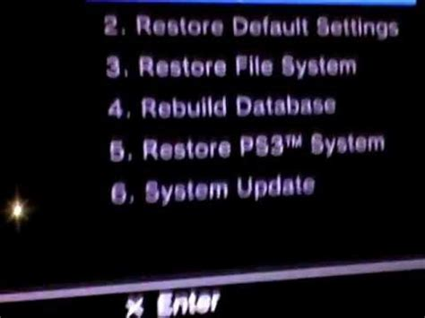 reset ps3 no video ps3 service menu factory reset restore review youtube