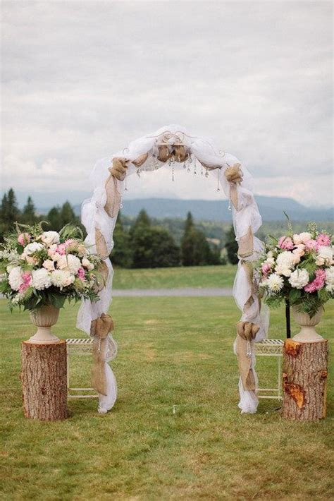 wedding arches decorated with burlap 25 best ideas about burlap wedding arch on rustic wedding arbors rustic wedding