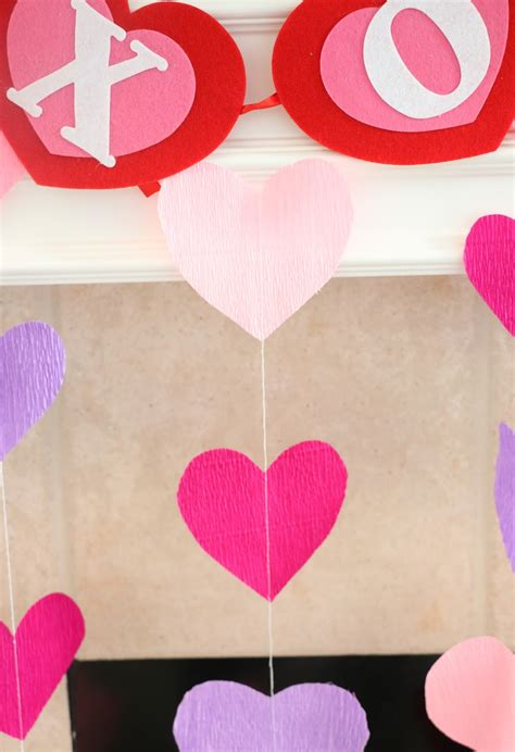 heart decorations for the home a kailo chic life diy it crepe paper heart decorations