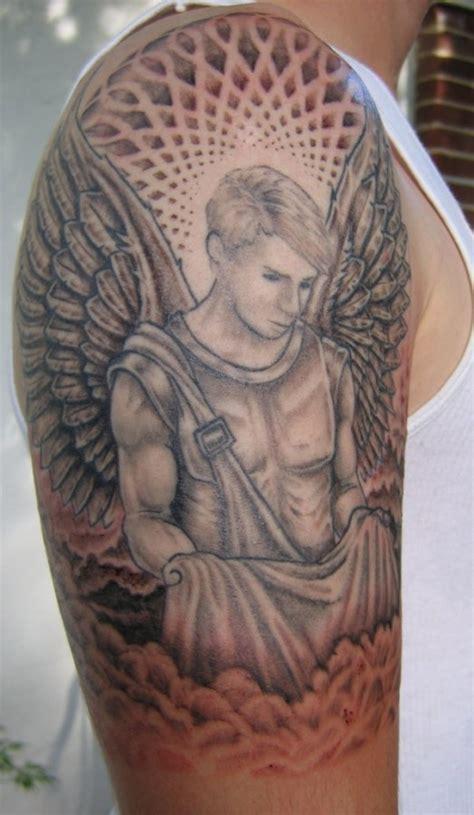 guardian angel tattoo tattoo black and gray pinterest