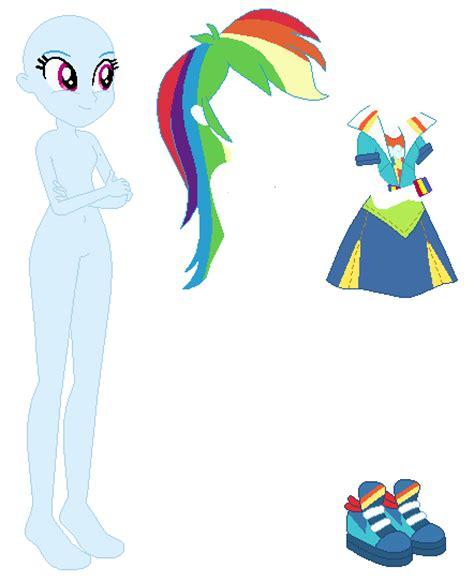 equestria dress rainbow dash base by selenaede